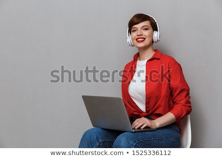gorgeous brunette on chair Stock photo © yurok