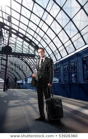 сигнала · железнодорожная · станция · горизонтальный · город · фон - Сток-фото © lightpoet