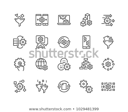 Statistiques analytics fichier icônes diagrammes chute Photo stock © Winner