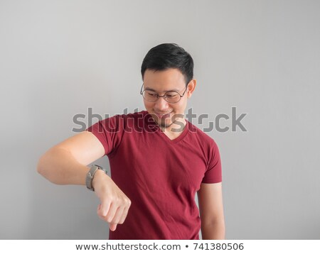 man in shock looking at his watch stock photo © photography33