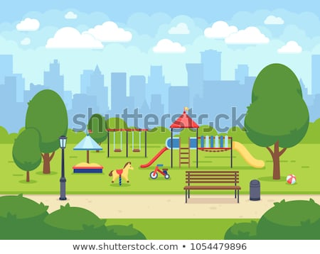 colorful playground in a city park. Stock photo © jakgree_inkliang