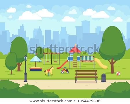 Színes játszótér város park fém nyár Stock fotó © jakgree_inkliang