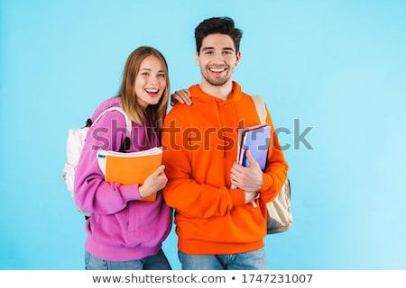 Homme · permanent · Université · couloir · étudiant - photo stock © photography33