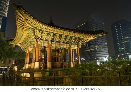 temple in central seoul south korea Stock photo © travelphotography