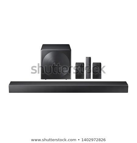 Sztereó hang közelkép fehér terv technológia Stock fotó © ozaiachin