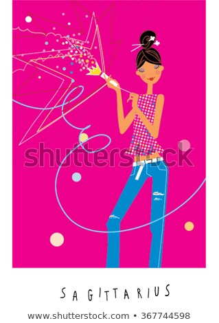 woman sagittarius sign for coloring stock photo © izakowski