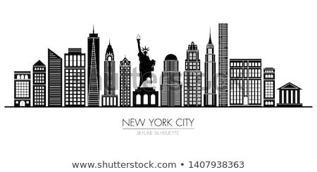 Empire State Building árnyék napos idő kockák épületek Manhattan Stock fotó © searagen
