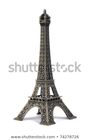 Париж · Эйфелева · башня · модель · изолированный · белый · студию - Сток-фото © photography33