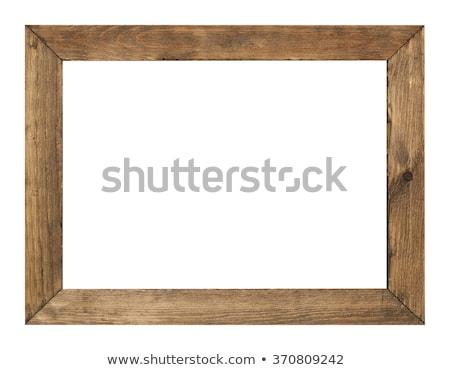 ahşap · çerçeve · yalıtılmış · beyaz · duvar · dizayn - stok fotoğraf © inxti
