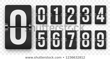 Black-and-white watch - counter isolated on white background stock photo © shutswis