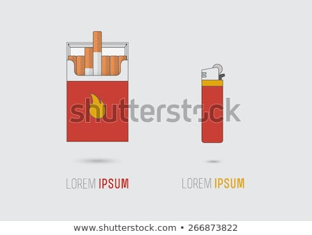 Sigaretta pack rosso accendino vettore eps Foto d'archivio © djdarkflower