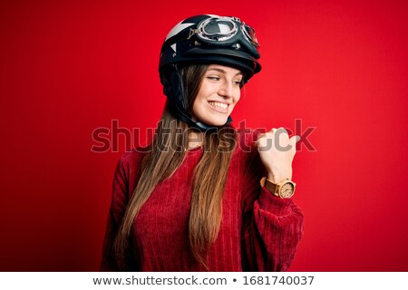 Woman with motorcycle helmet Stock photo © photography33