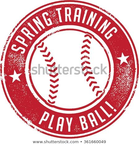 tavasz · képzés · baseball · bélyeg · klasszikus · stílus - stock fotó © squarelogo