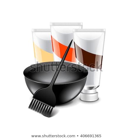 現実的な · はさみ · セット · 黒 · 青 · 赤 - ストックフォト © slobelix