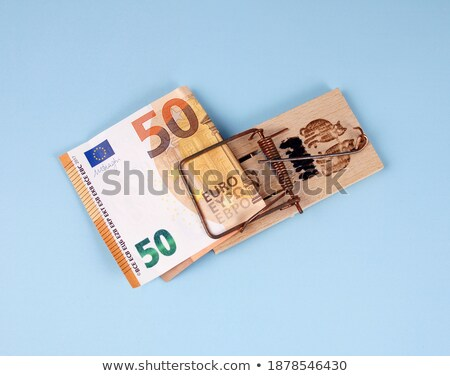 Euro számlák csapdába esett fotó kettő húsz Stock fotó © franky242