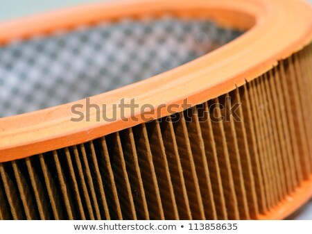 yellow paper air filter for cars up close stock photo © ruslanomega
