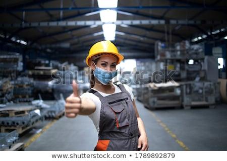 mosolyog · kereskedő · jóváhagyás · fehér · férfi · üzletember - stock fotó © elenaphoto