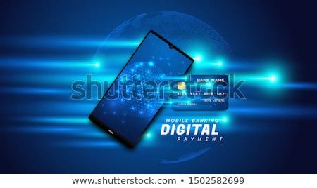 Цифровая иллюстрация онлайн обмена бизнеса технологий сеть Сток-фото © 4designersart