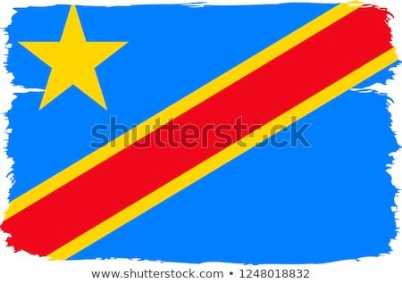 Bayrak cumhuriyet Kongo afiş dalgalanma 3D Stok fotoğraf © MikhailMishchenko