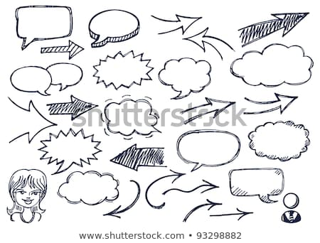 Stock photo: Speech Bubbles with Girl Avatar