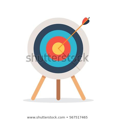 стрельба из лука целевой соломы спорт фон кольца Сток-фото © smuki