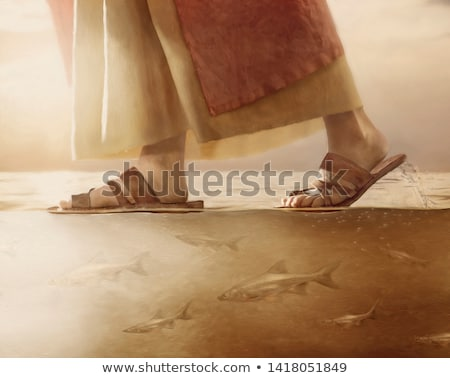 Jesus Christ walking on the sea Stock photo © Snapshot