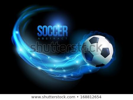 Balón de fútbol fuego llamas agua fútbol Foto stock © Kesu