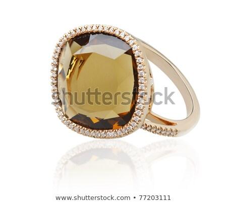 Elegance diamond topaz ring, the art of the handmade jewelry Stock photo © JohnKasawa