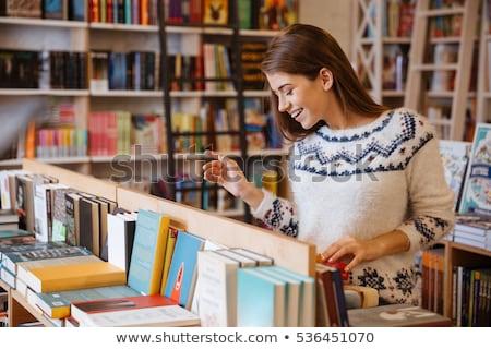Livraria edifício janela assinar ícone clip-art Foto stock © zzve