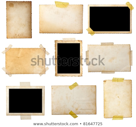 blank instant photo frame on an old paper background Stock photo © nito