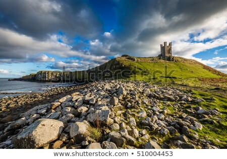 bamburgh castle on top of the rock stock photo © capturelight