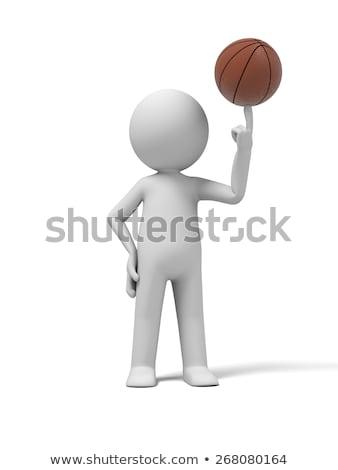 3d · render · illusztráció · kosárlabda · fehér · sport · játék - stock fotó © karelin721