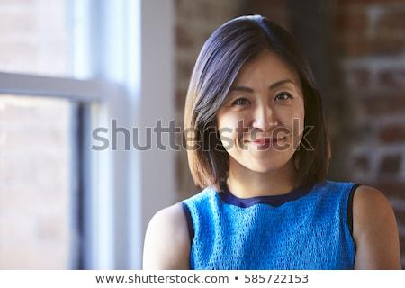 Asian kobieta interesu przypadkowy portret piękna Zdjęcia stock © Maridav