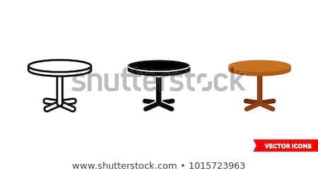 Icon table Stock photo © zzve