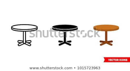 eettafel · illustratie · lepels · platen · abstract · ontwerp - stockfoto © zzve
