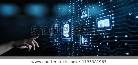 műhely · sötét · digitális · szöveg · kék · szín - stock fotó © tashatuvango
