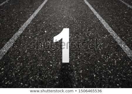 Milestone Road Number 1 Stock photo © tainasohlman