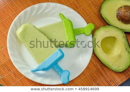 taze · avokado · meyve · arka · plan · yeşil · damla - stok fotoğraf © givaga