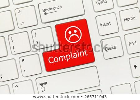 Teclado queixa botão branco negócio Foto stock © tashatuvango