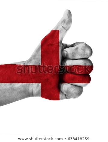 Англии флаг большой палец руки вверх жест превосходство Сток-фото © vepar5