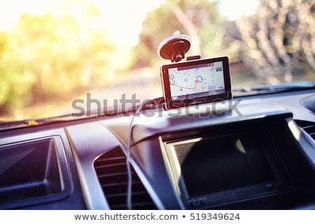 gps · auto · witte · weg · kaart - stockfoto © anterovium