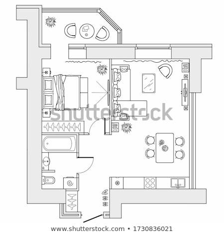 макет · квартиру · Черно-белые · оказывать · белый · прибыль · на · акцию - Сток-фото © cherezoff