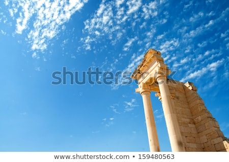 Columns of The Sanctuary of Apollo Hylates opposite blue sky Stock photo © Kirill_M