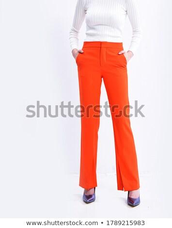 длинные ноги тощий кожа брюки Сток-фото © Elisanth