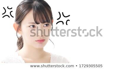 怒っ 主婦 肖像 悲しい 白 怒り ストックフォト © dukibu