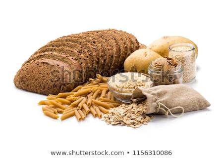 Koolhydraten aquarel ingesteld geïsoleerd brood snoep Stockfoto © Lynx_aqua