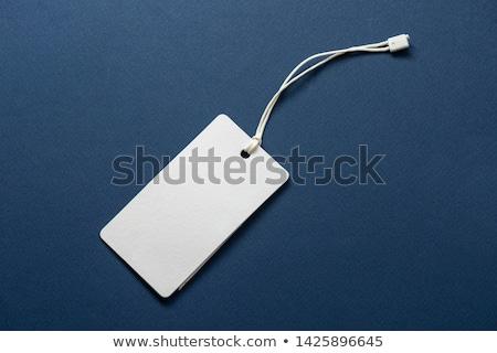 blank tag tied stock photo © jocicalek