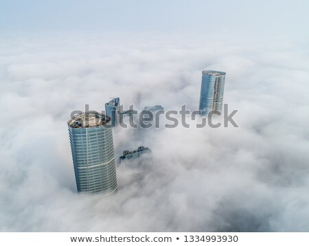 Groot stad mist Sjanghai China gebouw Stockfoto © papa1266