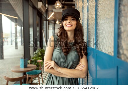 attractive brunette beauty posing in paris stock photo © oleanderstudio