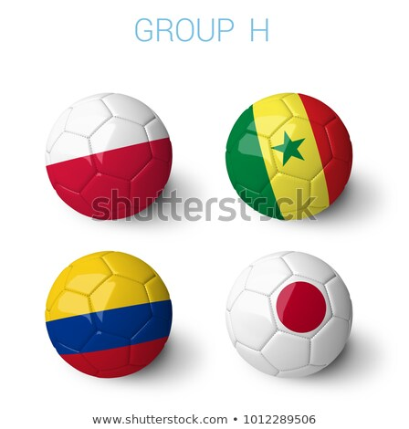 Soccer football ball with Colombia flag Stock photo © daboost